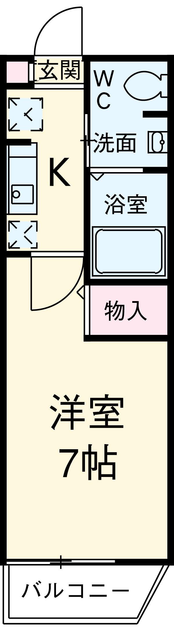 エルスタンザ東綾瀬・303号室の間取り
