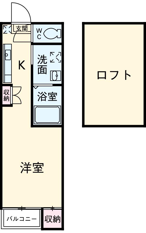 CERESIA Y-3・203号室の間取り
