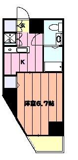 レオーネ金町・604号室の間取り