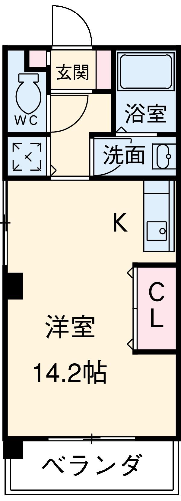 KDXレジデンス神宮前・608号室の間取り
