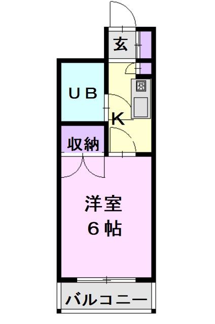 CASA NOAH 名古屋Ⅲ・415号室の間取り