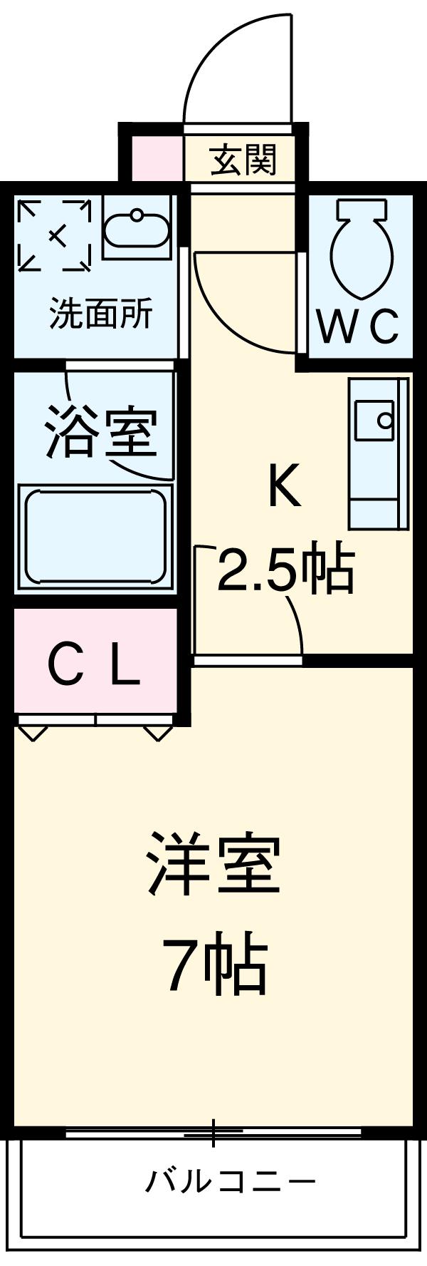 スカイフラット名古屋・302号室の間取り
