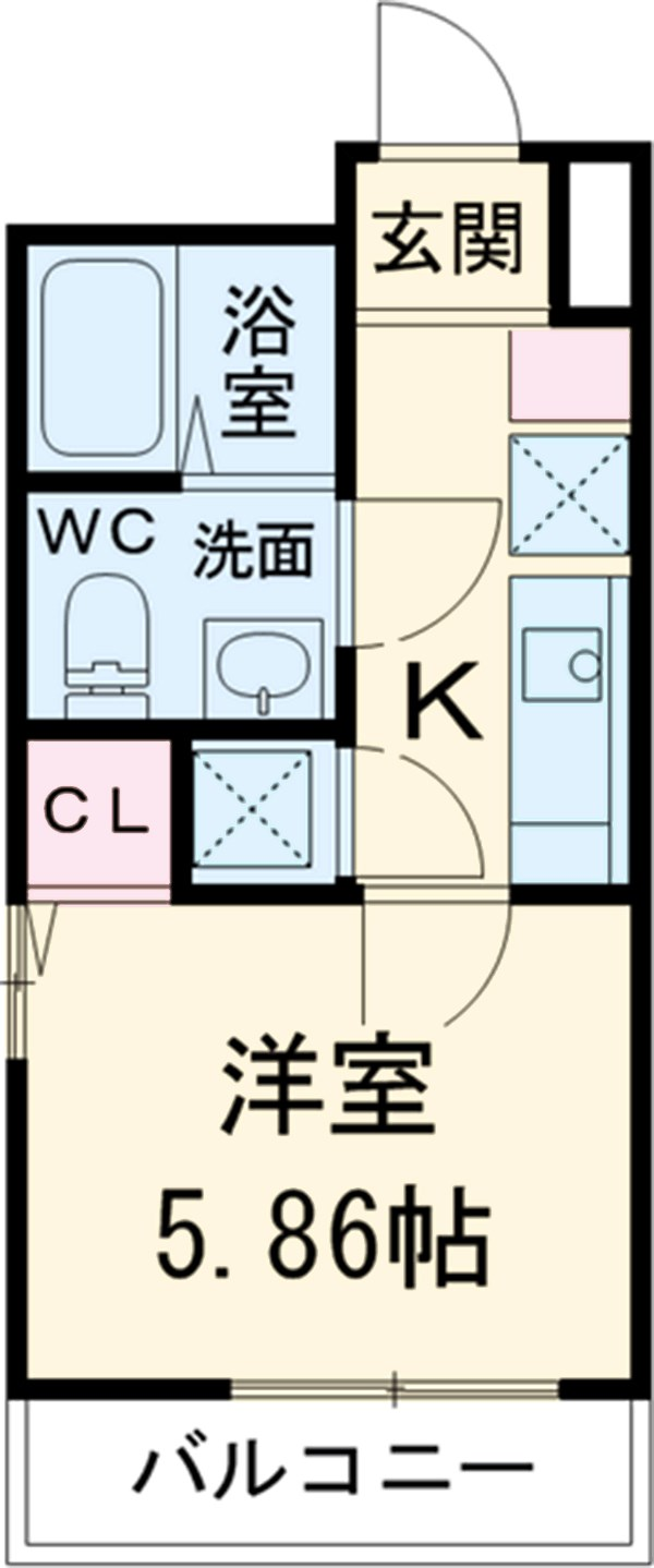 HK2 west・2203号室の間取り
