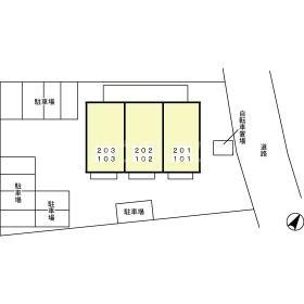 RoseCourt笹ヶ根 201号室の駐車場
