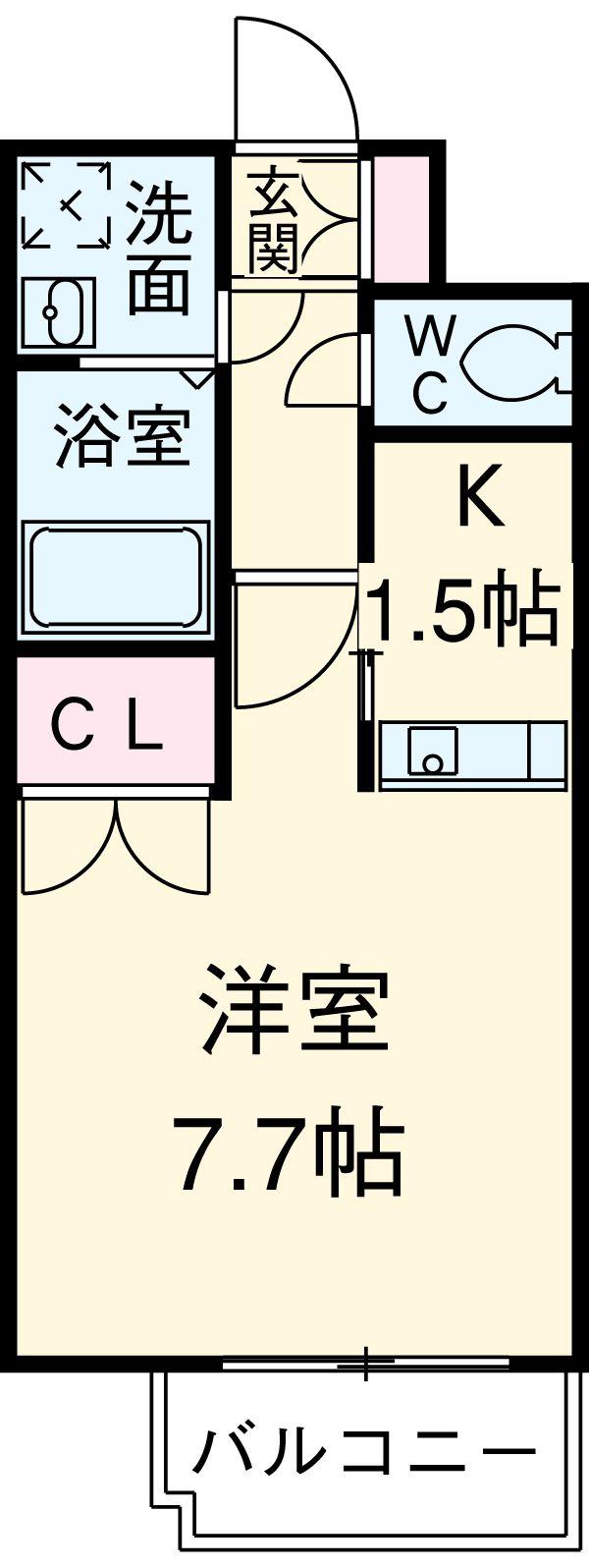 プレサンス名古屋STATIONアライブ・1401号室の間取り