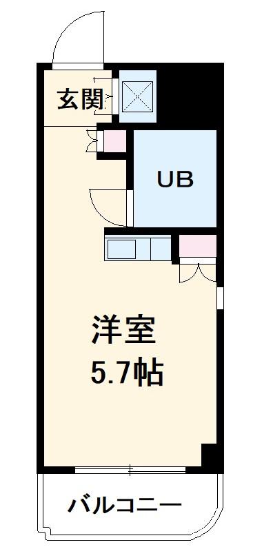 朝日プラザ名古屋ターミナルスクエア・105号室の間取り