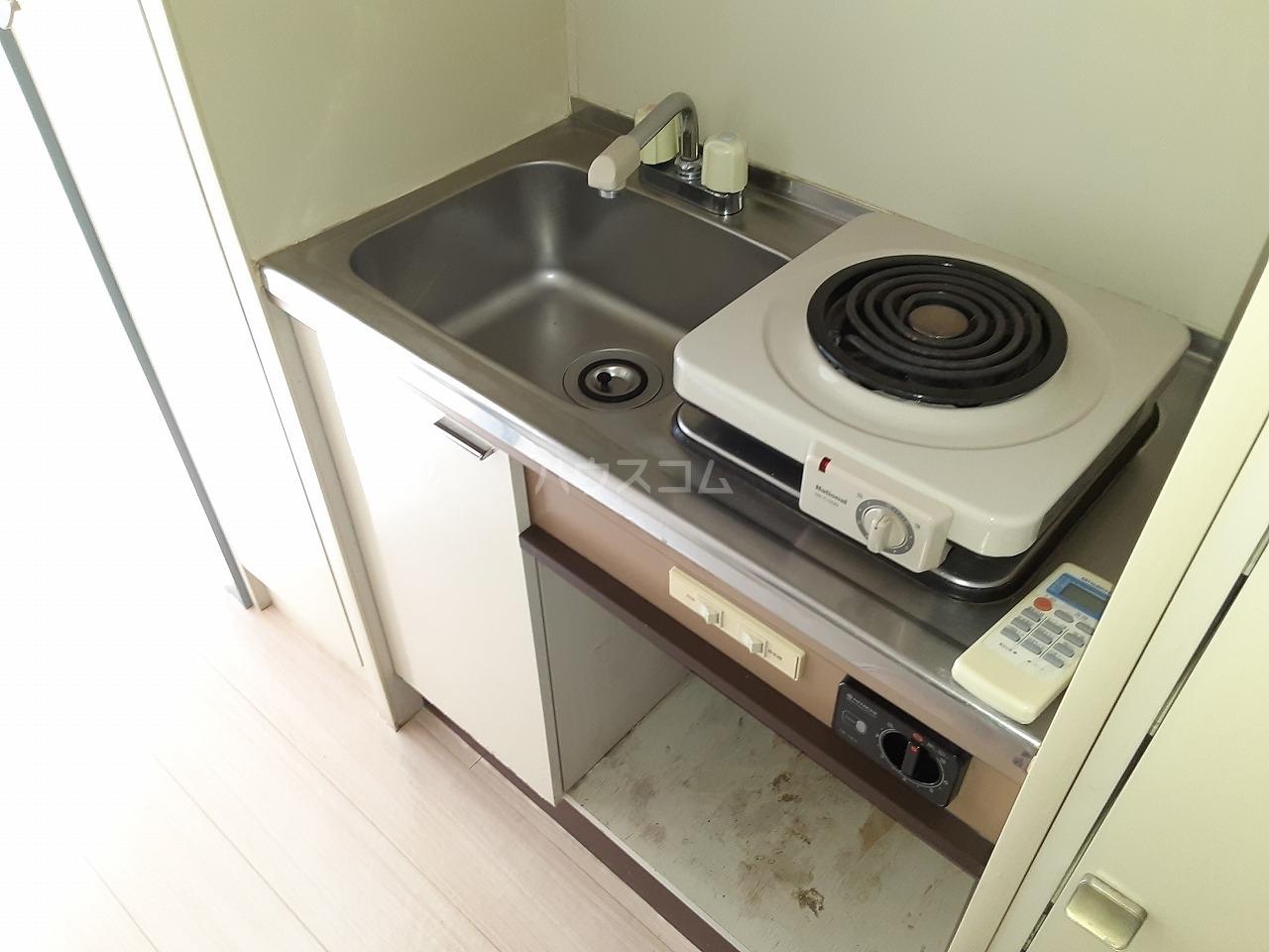 プレスイン城下 2A号室のキッチン