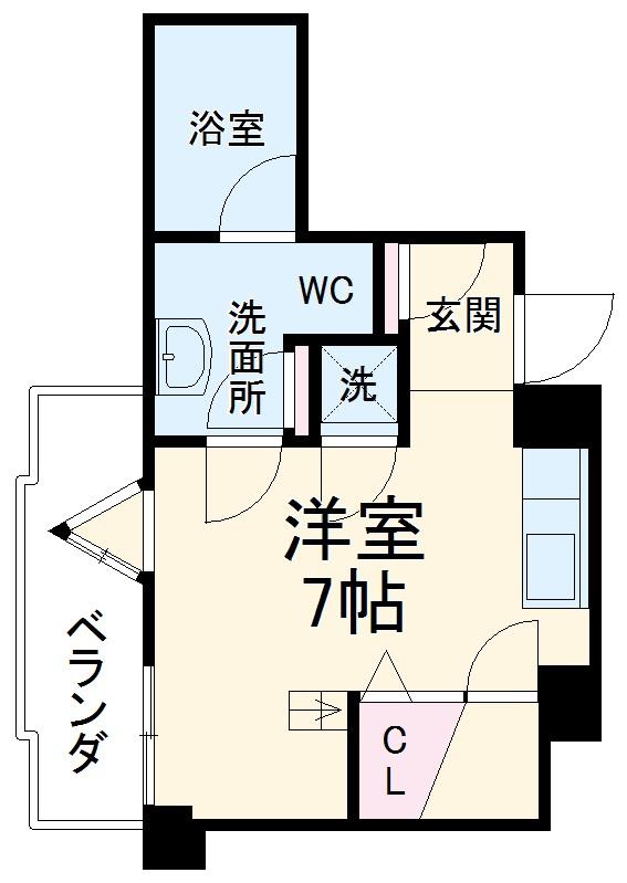 SK BUILDING-5・5C号室の間取り