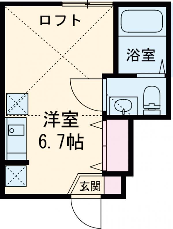 FERIO綾瀬イーストコート・103号室の間取り