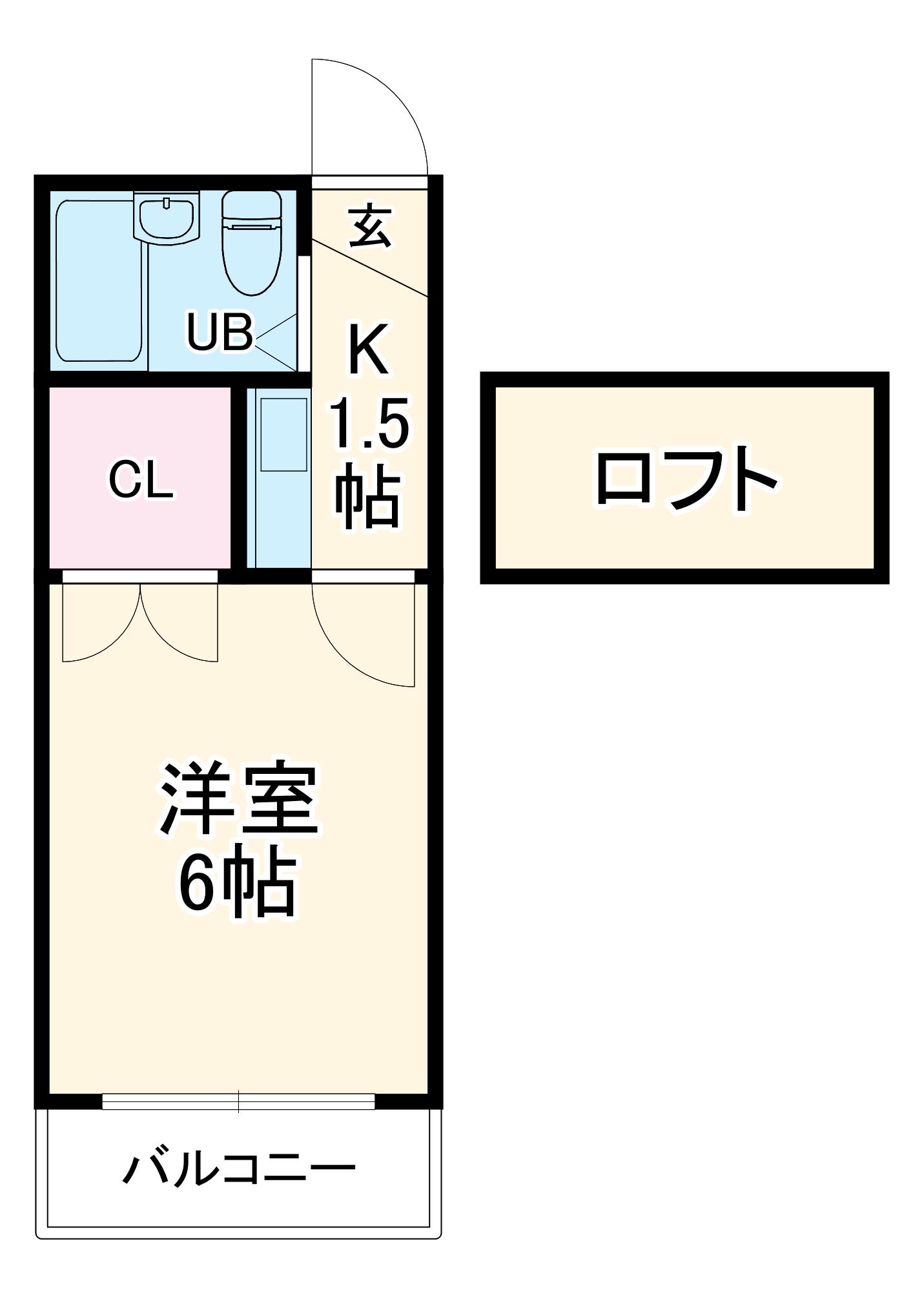 リバーサイド喜多山・204号室の間取り