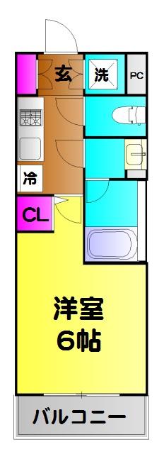 ライジングプレイス綾瀬・225号室の間取り