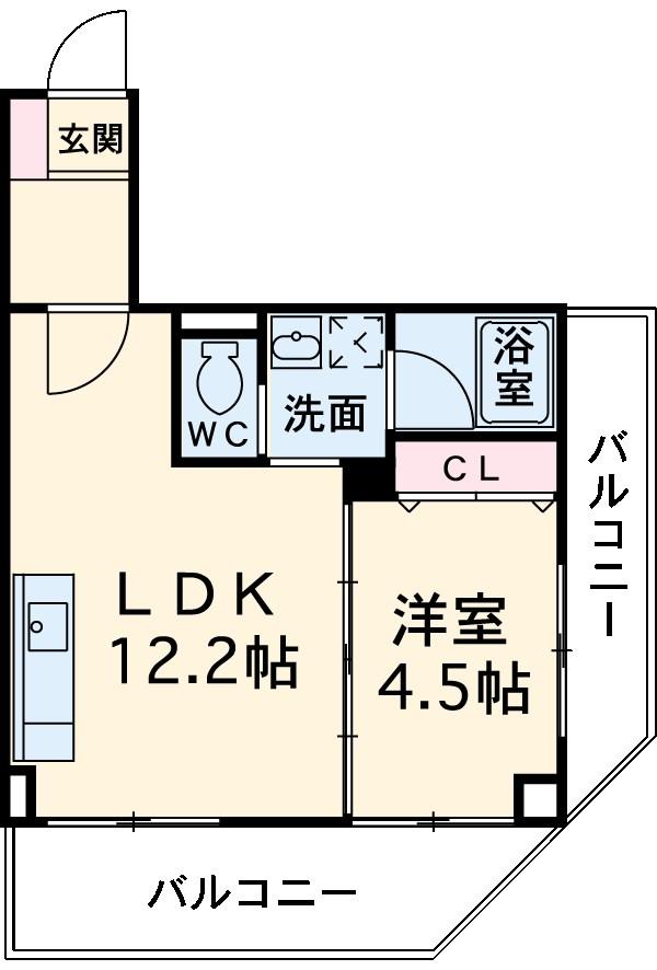 喜多山ビル 302号室の間取り