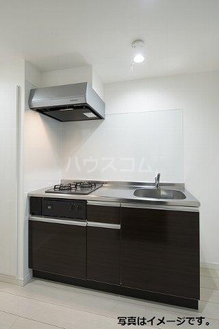 ブドワール塩池 205号室のキッチン