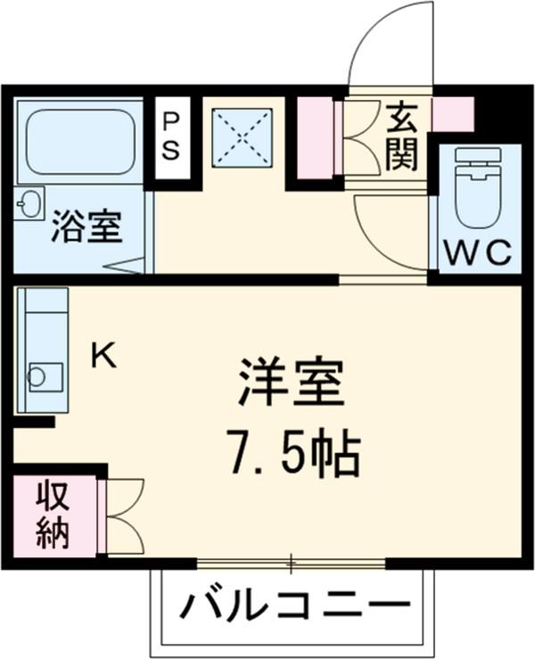 七宝六反田ハウス・204号室の間取り