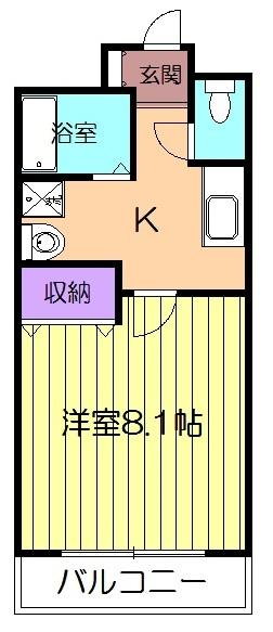 セレニール和合Ⅲ・3A号室の間取り