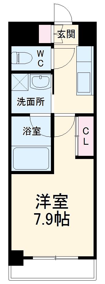 S-FORT熱田六番・306号室の間取り