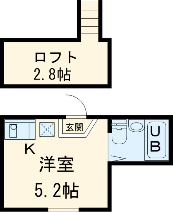 シャンテアムール亀戸・303号室の間取り