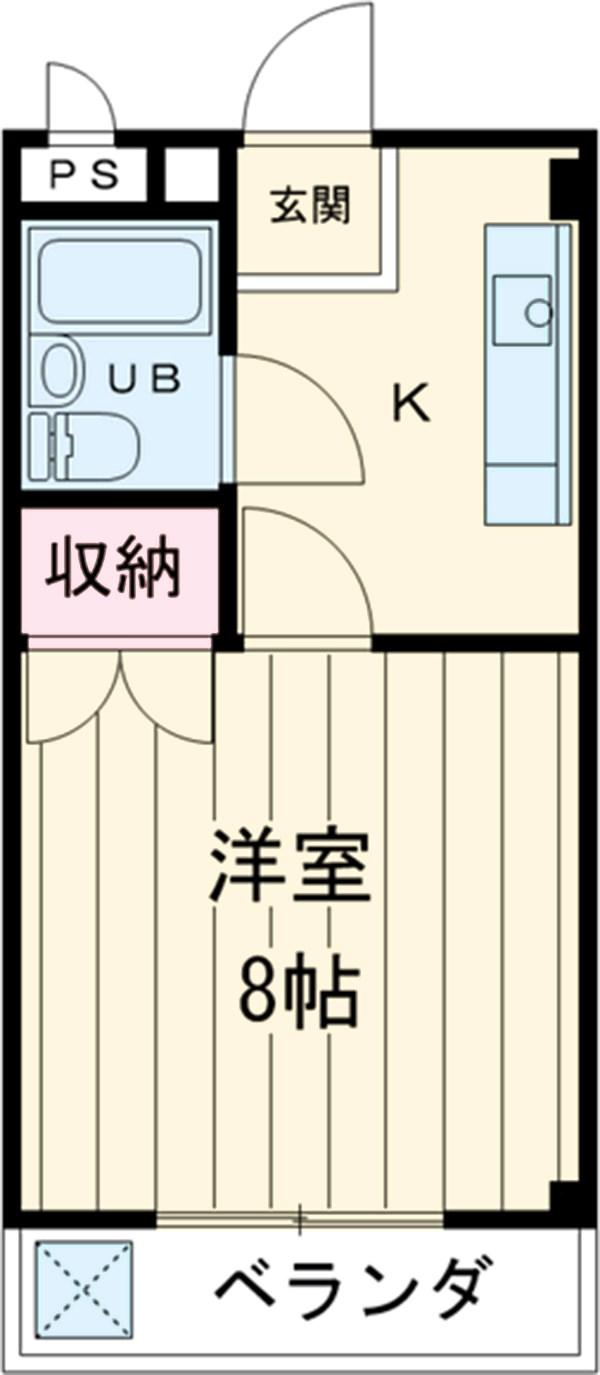シャンポール三栄前山Ⅰ 205号室の間取り