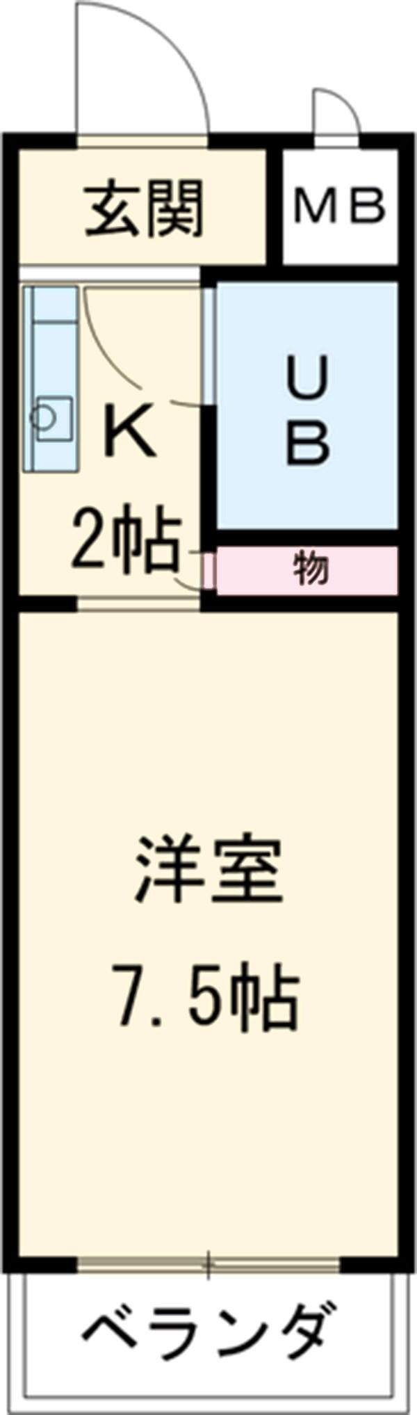サンシャイン富士パート1 104号室の間取り
