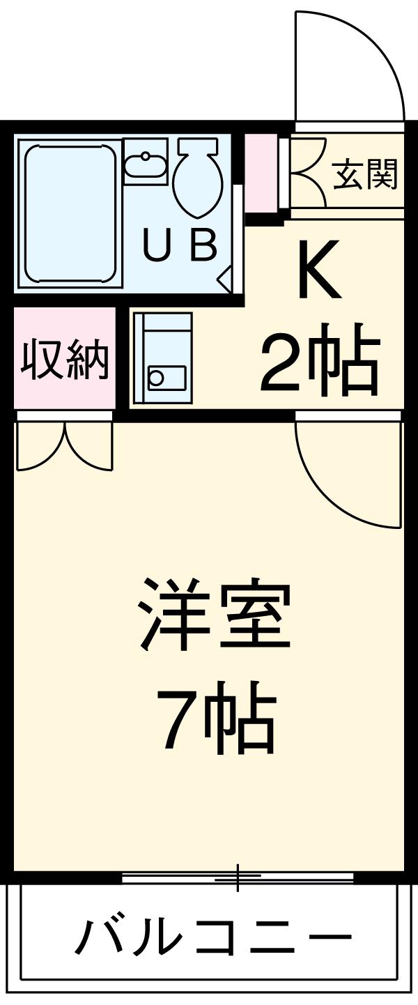 Villa八田・103号室の間取り