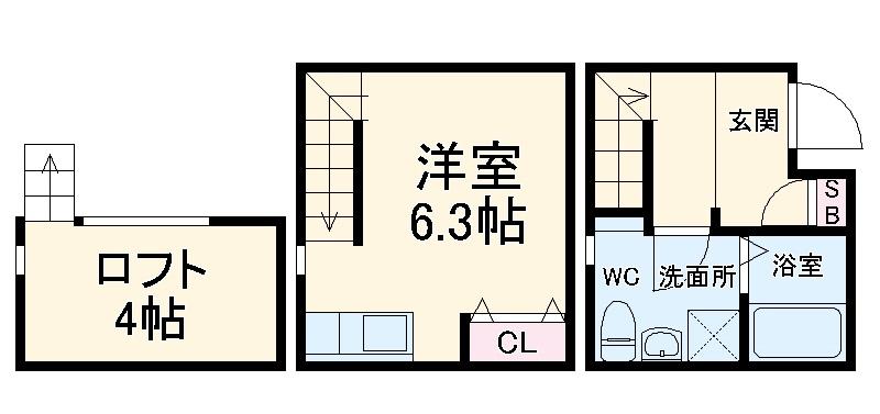 LE COCON守山Ⅱ・106号室の間取り