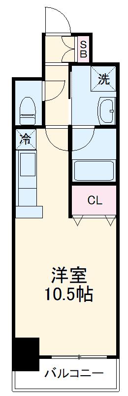 AMBER HOUSE Horita・1204号室の間取り