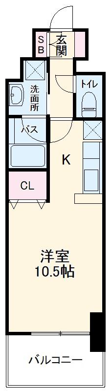 AMBER HOUSE Horita・1303号室の間取り