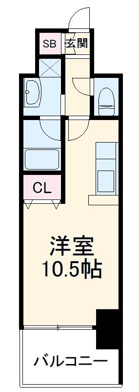 AMBER HOUSE Horita・903号室の間取り