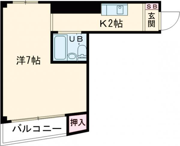 清島ビル・502号室の間取り