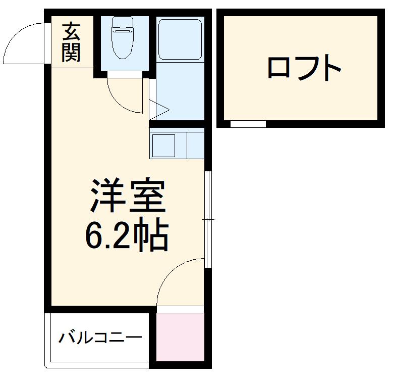 モアハイツ名島・102号室の間取り