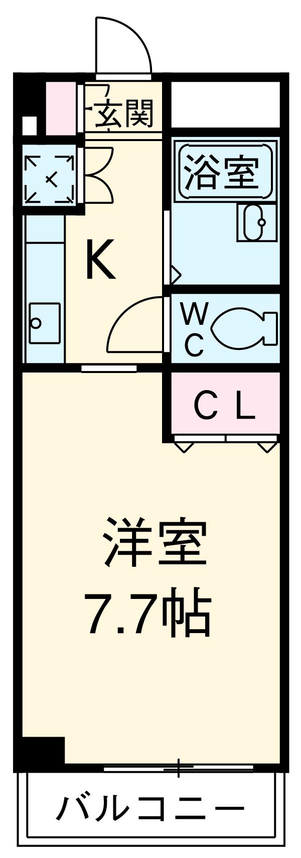 TANAKA HOUSE・1-C号室の間取り
