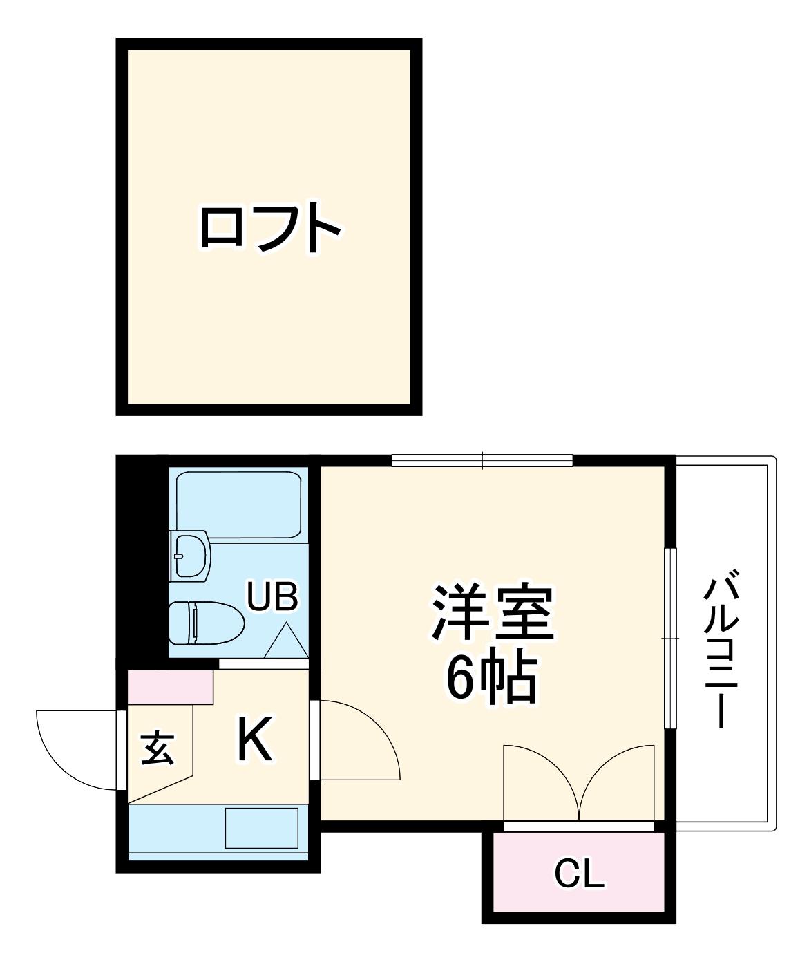 21世紀ハイツ堀田・103号室の間取り