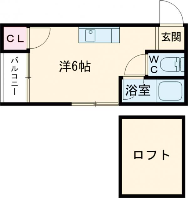 コンフォートヒルズ吉塚・202号室の間取り