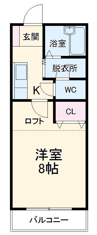 ルート門松駅ⅡB棟・202号室の間取り