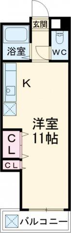 レジデンス松島・208号室の間取り