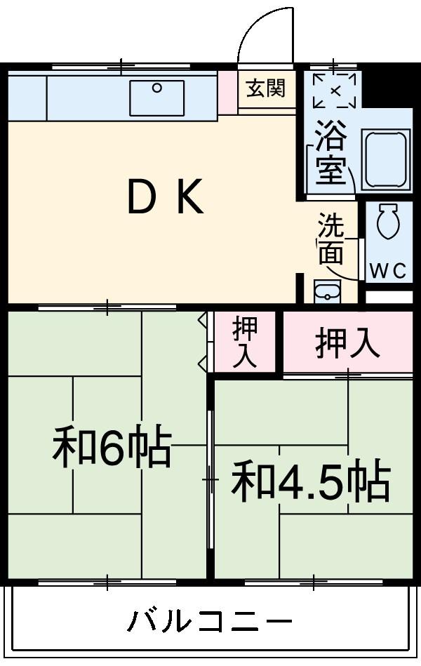 斉藤マンション 302号室の間取り