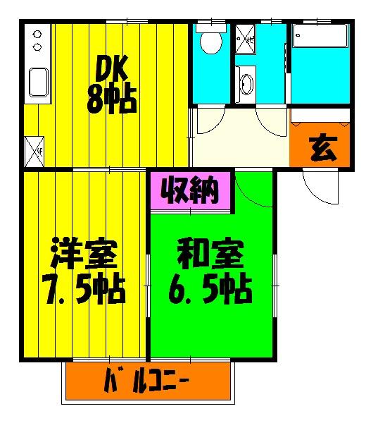シャインSUGITO・203号室の間取り