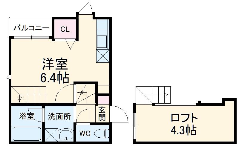 Crane HAKATA PREMIUM・101号室の間取り
