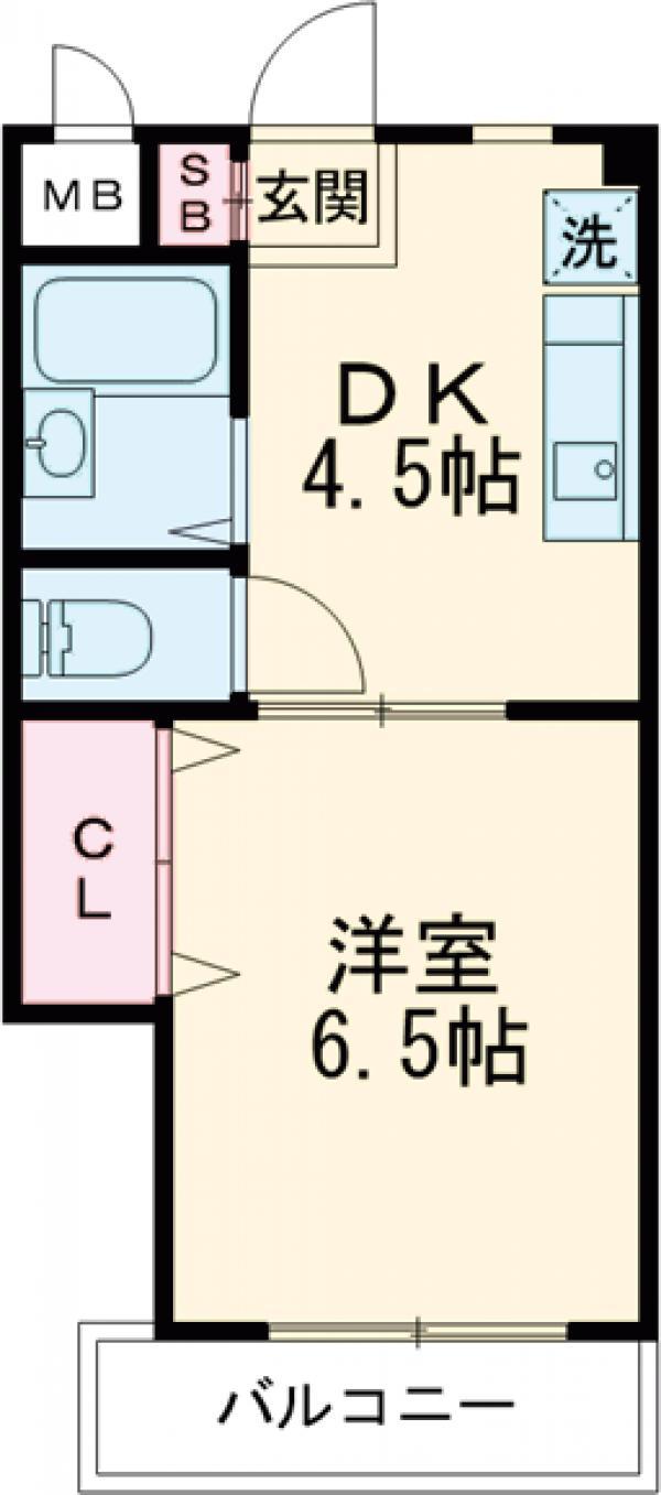 エクセレンスアキヤマ・316号室の間取り