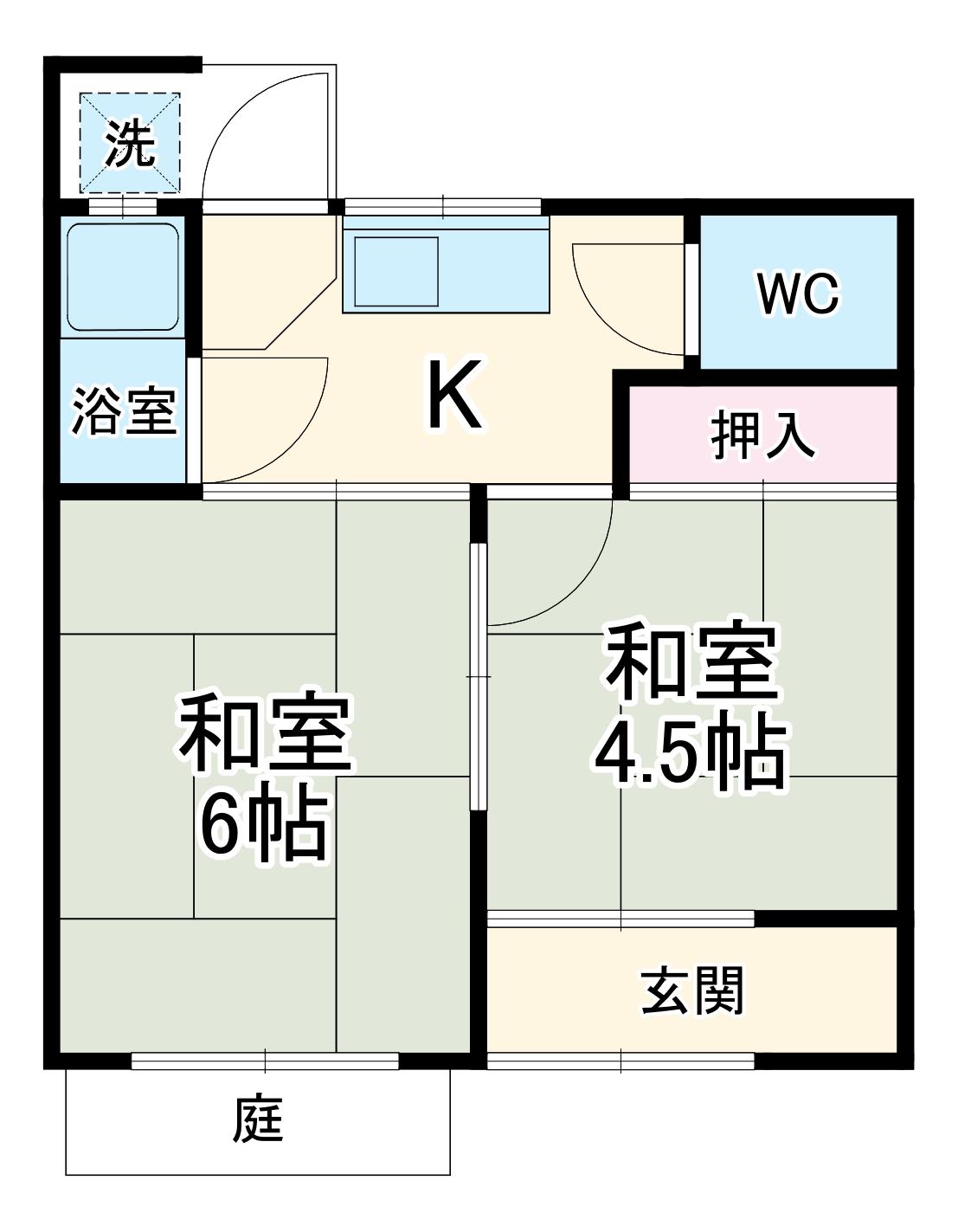 前田様貸家243・10号室の間取り