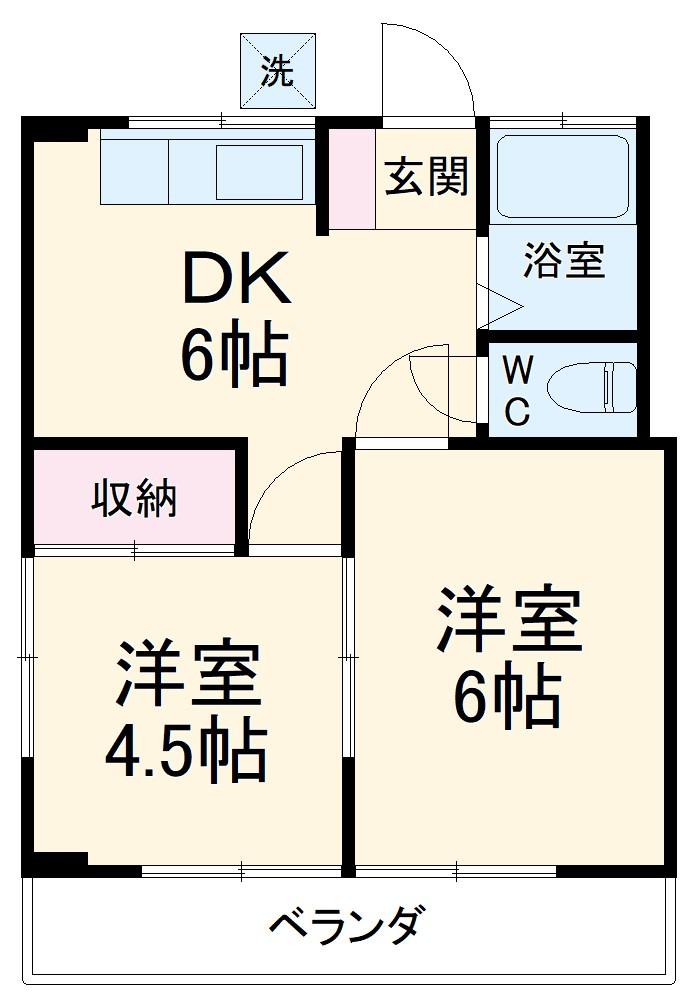 吉澤マンション 201号室の間取り