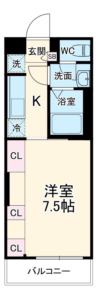 リブリ・鈴谷・305号室の間取り