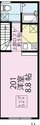 MINA NIJUKU・201号室の間取り