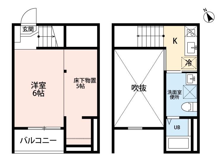 Blossom Meiji・103号室の間取り