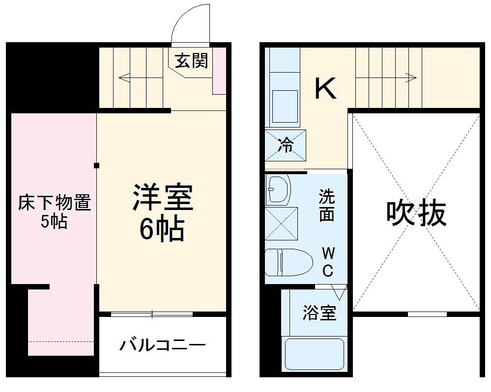 Blossom Meiji・201号室の間取り