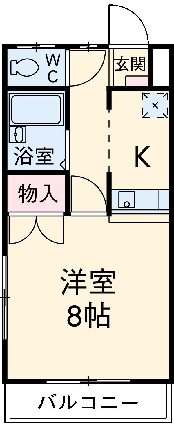 アネックス豊Ⅱ・105号室の間取り