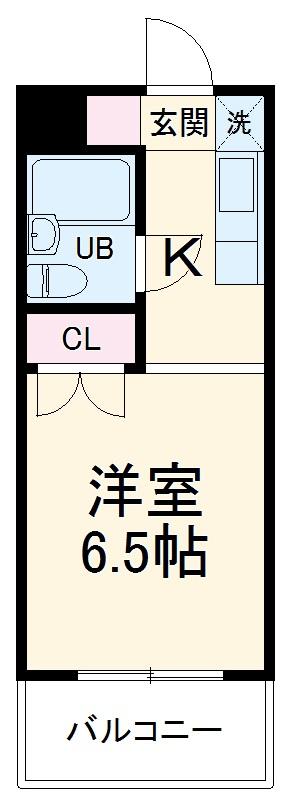 メゾン・ド・ドリーム横浜・34号室の間取り