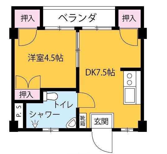 タカダ泊マンション・502号室の間取り