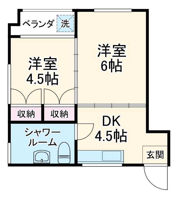 丸豊商事ビル6・4-A号室の間取り