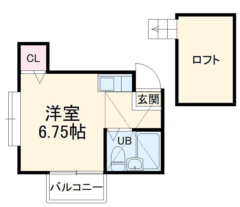 タウンコート新検見川・201号室の間取り